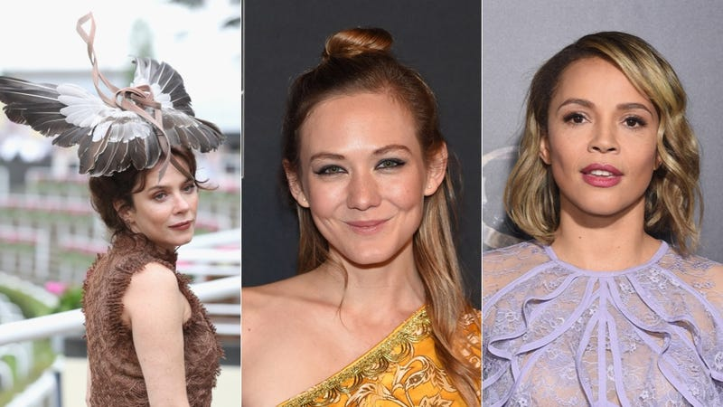 From left to right: Friel, Krause, Ejogo. Images via Getty.