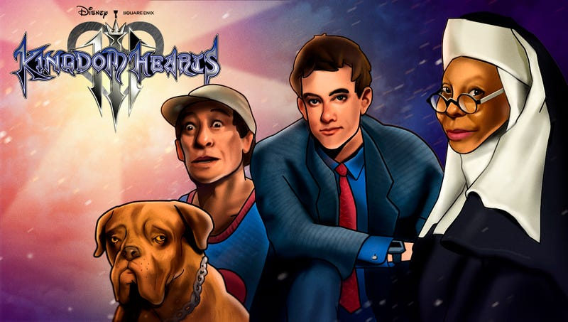 Illustration for article titled Disney Announces 'Kingdom Hearts III' Will Feature Ernest, Turner, Hooch, And All The Rest Of Your Favorite Touchstone Pictures Characters