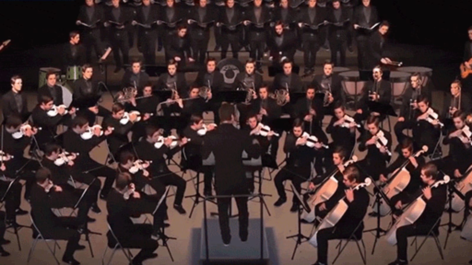Watch a musician play every instrument in a 70-person orchestra at once