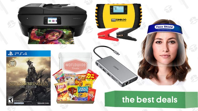 Monday s Best Deals: HP Back-to-School Sale, Aukey 12-in-1 USB-C Hub, Final Fantasy XIV: Shadowbringers, Gooloo 1500A Jump Starter, Taste of Asia Snack Mix, Reusable Face Shields, and More