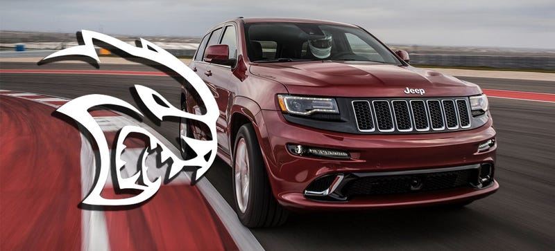 Illustration for article titled 707 Horsepower Jeep Grand Cherokee Hellcat Confirmed For 2017