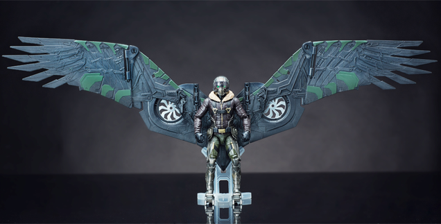 look at the damn wings on this spider man homecoming vulture action figure