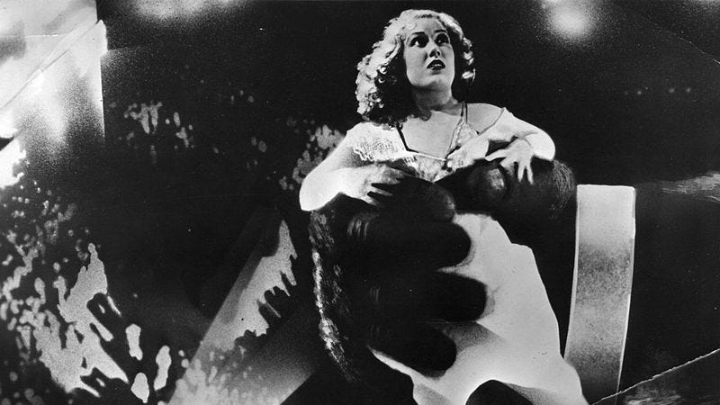Fay Wray in King King (1933). (Photo: Hulton Archive / Getty Images)