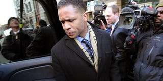 Jesse Jackson Jr. leaves U.S. District Court in Washington, D.C., in February. (Win McNamee/Getty Images News)