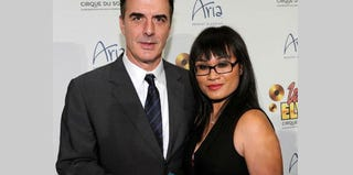 Chris Noth and his wife, Tara Lynn Wilson (Ethan Miller/Getty Images)