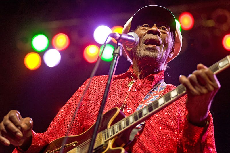 Chuck Berry performs at the Congress Theater on Jan. 1, 2011, in Chicago. (Timothy Hiatt/Getty Images)