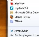 Illustration for article titled JumpLaunch Turns Your Quick Launch Folder into a Jump List