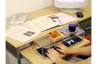 Illustration for article titled Keyboard Food Tray Prototype