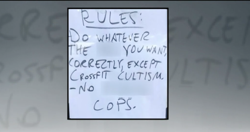 Gym owner makes no apologies for 'No F-- Cops' sign