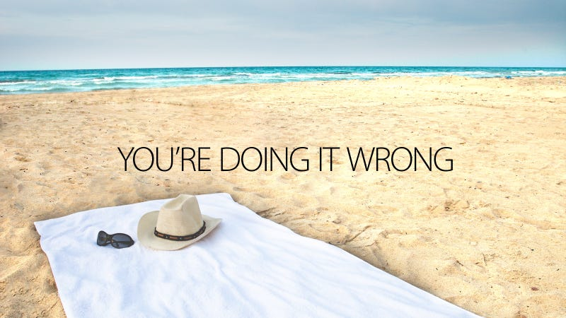 Illustration for article titled There Is a Right and a Wrong Way to Use a Beach Towel
