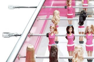 Illustration for article titled Barbie Foosball Table Costs Only $25K