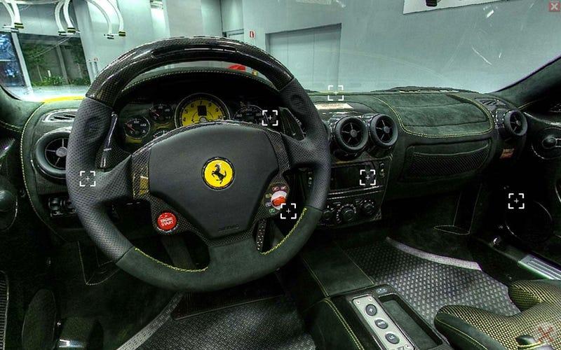 Illustration for article titled Amazing Ferrari F430 Spider Scuderia 16M In-Seat Visualization