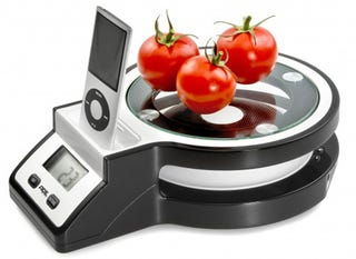 Illustration for article titled Finally, a Kitchen Scale iPod Dock