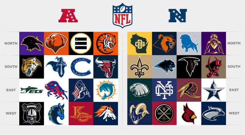 Illustration for article titled Check Out (And Nitpick) These Redesigned NFL Logos