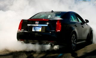 Illustration for article titled Can the 2009 Cadillac CTS-V Do Burnouts?