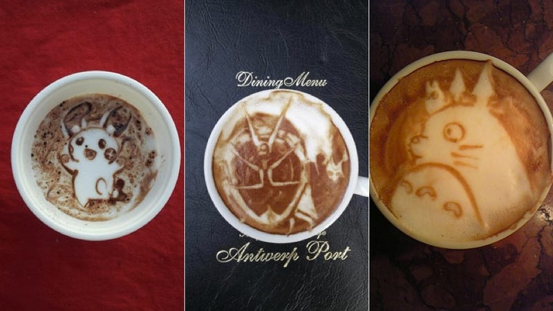 Illustration for article titled This Guy's Geeky Latte Art Will Blow Your Mind