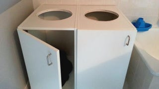 Organize Laundry with Kitchen Cabinets