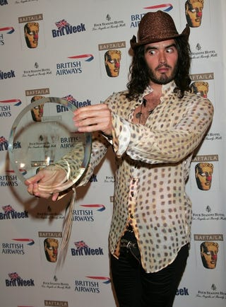 Illustration for article titled Russell Brand Looks Into Crystal Ball, Sees ________
