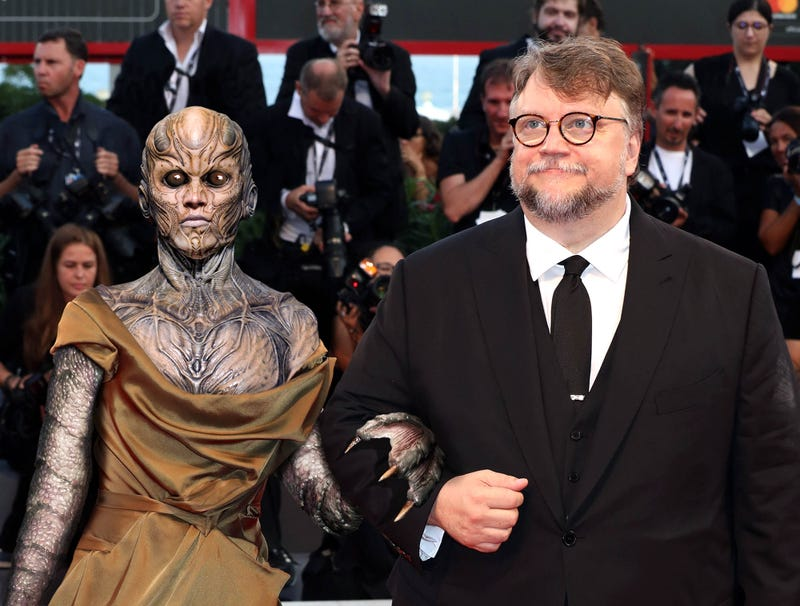 Illustration for article titled Guillermo Del Toro Makes First Appearance With New Monster Wife At Venice Film Festival