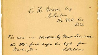 Illustration for article titled Lincoln's Handwriting Found in Racist Text