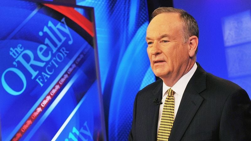 Bill O'Reilly on the set of his show.