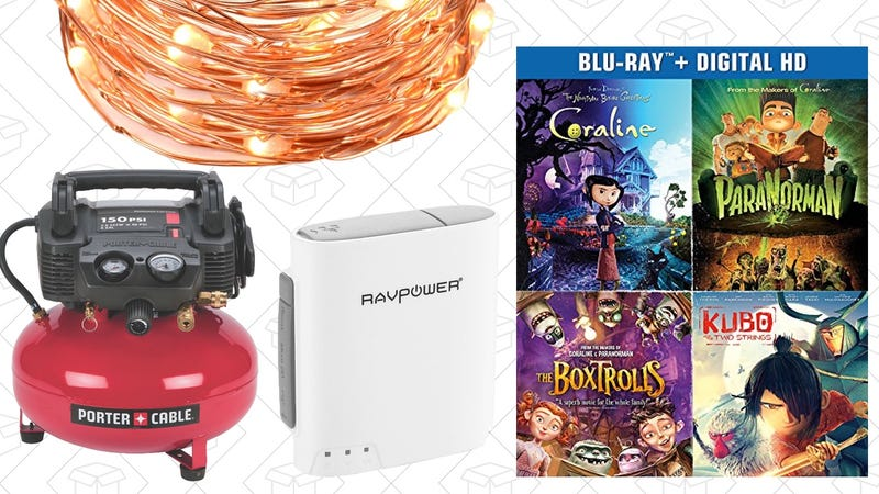 Illustration for article titled Today's Best Deals: FileHub, Air Compressor, String Lights, and More