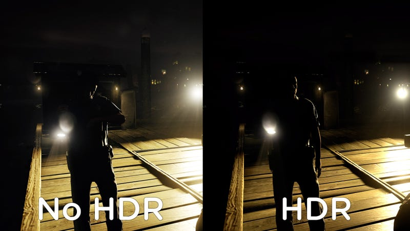This is an example of HDR from the game Infamous First Light. As this is a JPEG viewed on a non-HDR monitor it will appear different from the real thing.