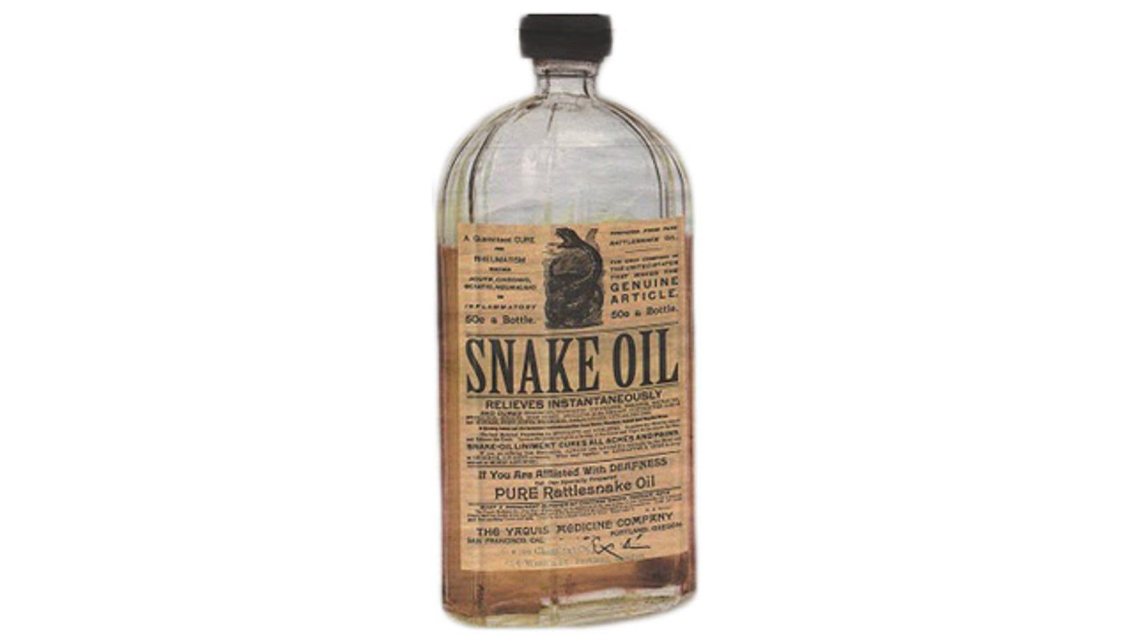 How Snake Oil Got Its Reputation