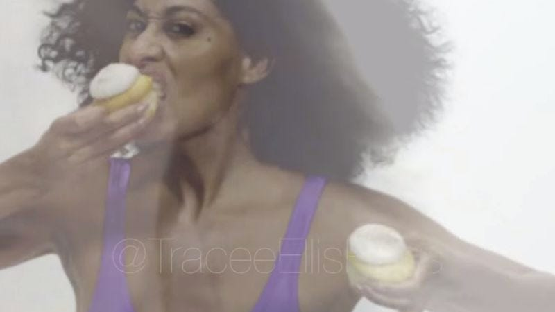 "Illustration for article titled Watch Tracee Ellis Ross recreate her mom's ""Work That Body"" video"