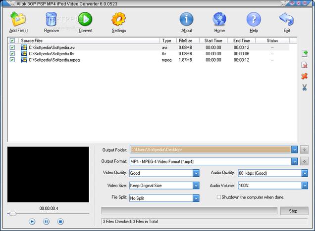 CONVERTER TÉLÉCHARGER ALLOK 3GP VIDEO CRACK IPOD MP4 PSP AVEC