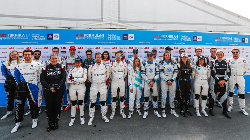 Illustration for article titled First In-Season Formula E Test Features Nine Female Racers