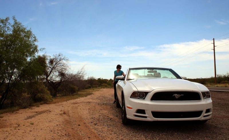 Illustration for article titled Flying Across The Desert In A Rented V6 Mustang: An American Aventure