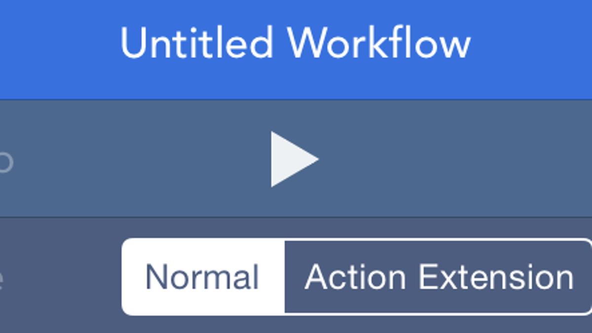 How to Create Your Own iOS Apps and Extensions with Workflow