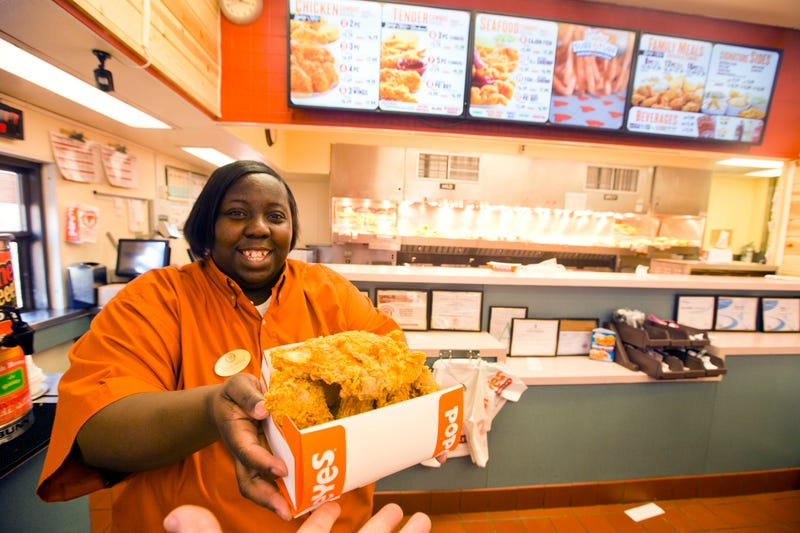 Keamellia Dee, co-manager of a Popeyes restaurant in Vicksburg, Miss.Stan Grossfeld/The Boston Globe via Getty Images