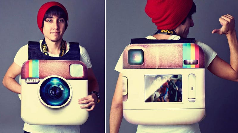 Illustration for article titled Giant Working Instagram Camera Is This Year's Costume To Beat