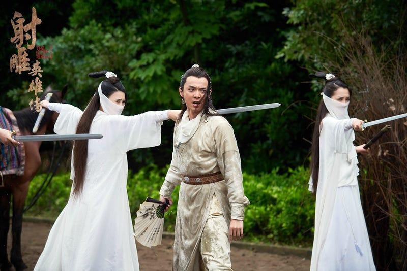 Imagen de la película Legends of the Condor Heroes, inspirada en la saga de novelas de Jin Yong.