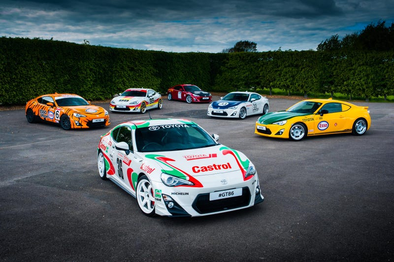 Illustration for article titled Here Are Some GT86s With Historic Liveries For Your Viewing Pleasure