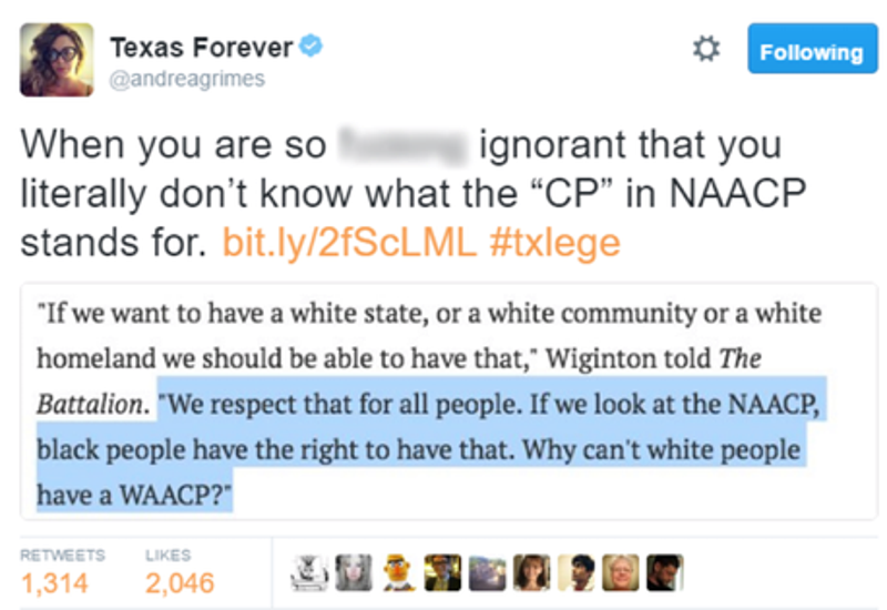 White Supremacist Doesn't Understand What the 'N' in NAACP Means ...