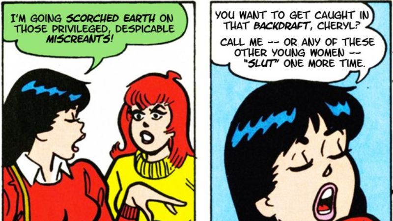 Illustration for article titled Enjoy saucy Riverdale dialogue inserted into old Archie comics