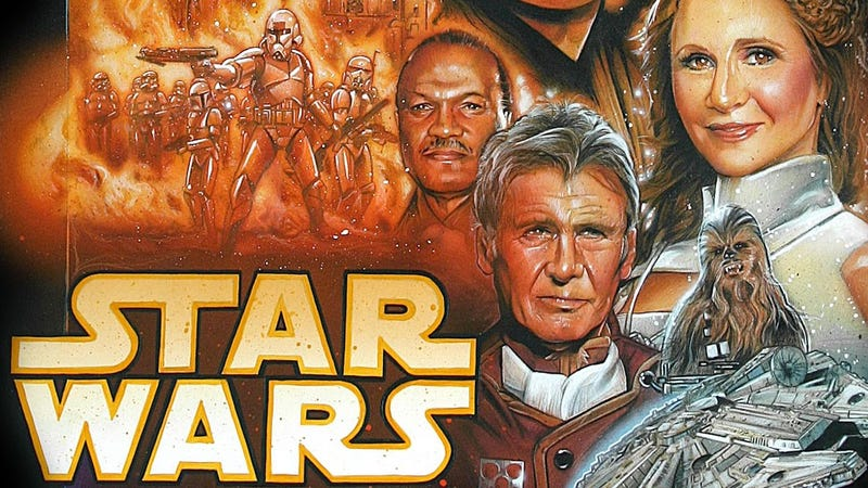 Illustration for article titled A Brilliant Poster For The New Star Wars Movie, Starring The Original Cast's Old Faces
