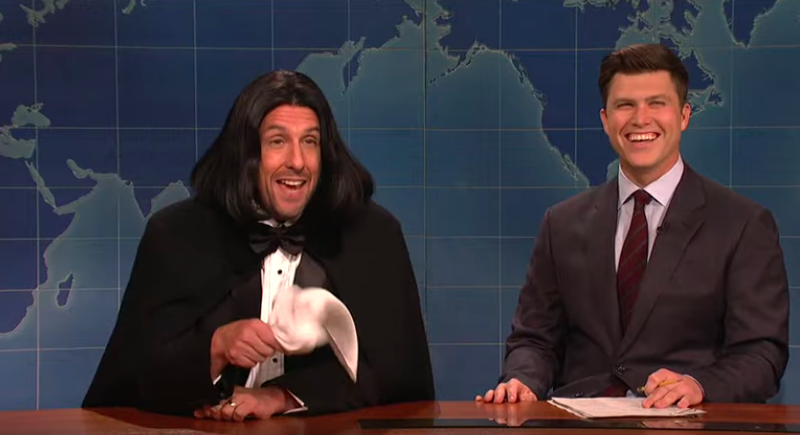 Adam Sandler brings some nostalgic professionalism to an otherwise tired Saturday Night Live