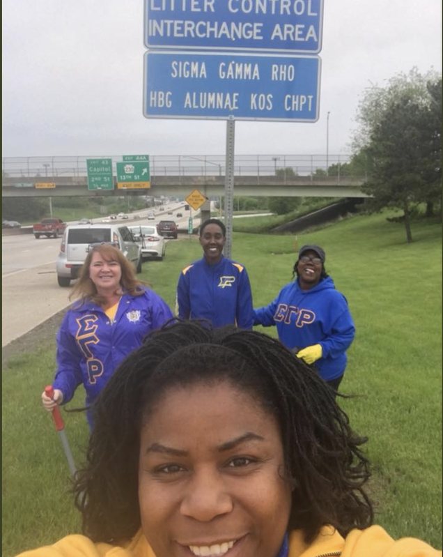 Illustration for article titled #CommunityServiceWhileBlack: Cop Questions Sigma Gamma Rho Sorority Members During Highway Cleaning, Says He Thought They Were Fighting