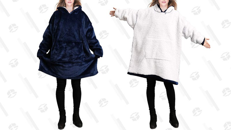 Reepow Hoodie Blanket (Blue and Red) | $30 | Amazon | Promo code 45LB2M3M