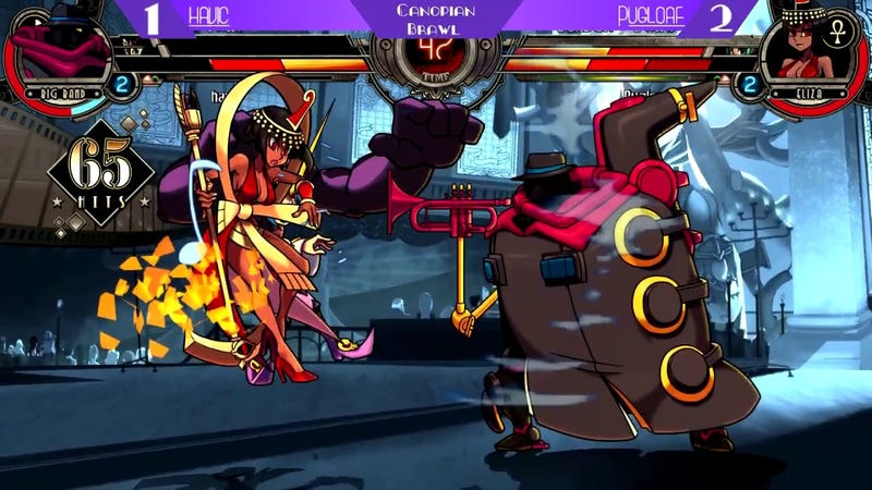 Illustration for article titled Skullgirls Player Celebrates A 'Happy Birthday' In Appropriate Fashion