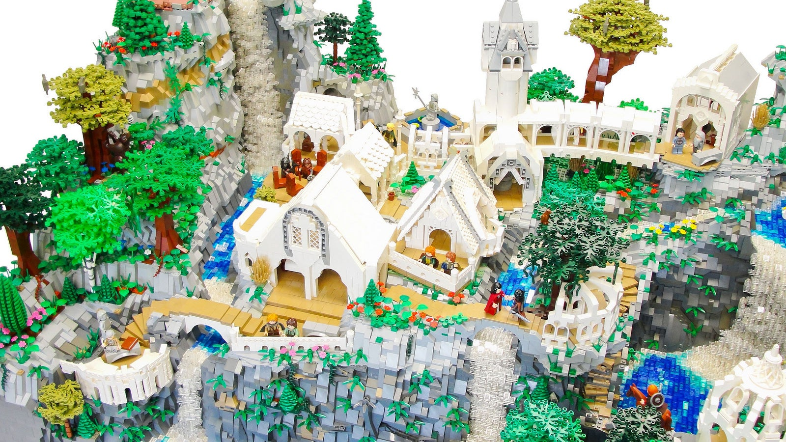 this awesome 50000piece lego rivendell was made by a kid