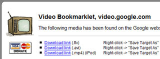 Illustration for article titled Download web video with the All-In-One Video Bookmarklet