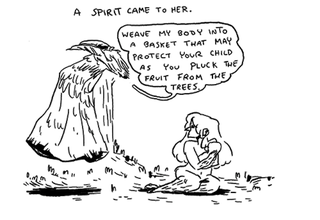 Illustration for article titled A bittersweet webcomic fairytale about a spirit who aids a mother