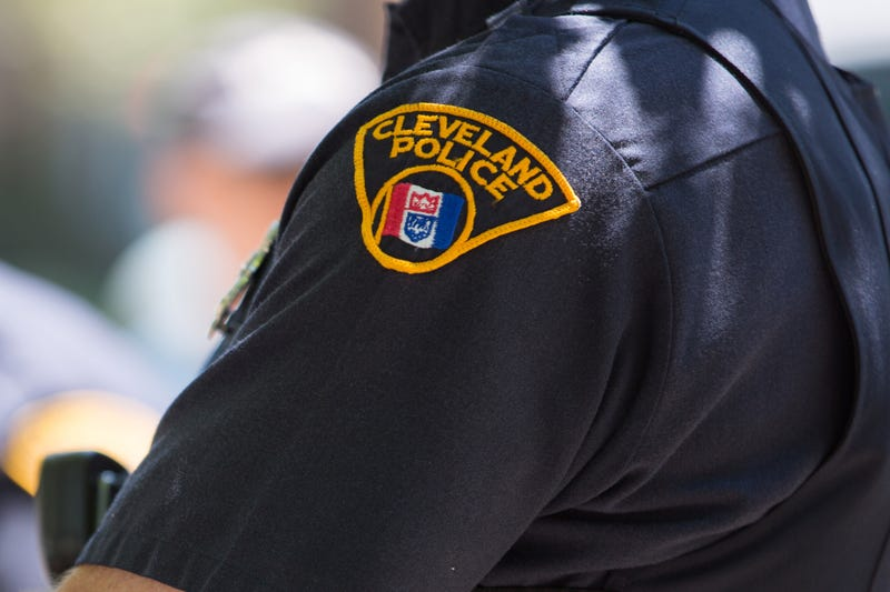 Police insignia on Cleveland police officer's armRicky Rhodes/Getty Images