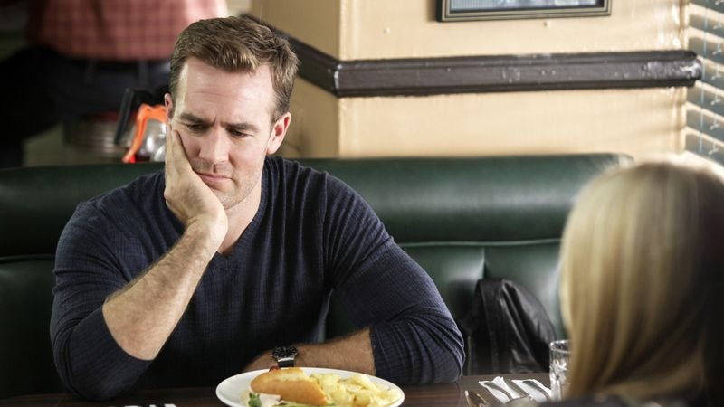 Illustration for article titled James Van Der Beek finds work after Don't Trust The B---- as a gynecologisttending to ladies' ------s