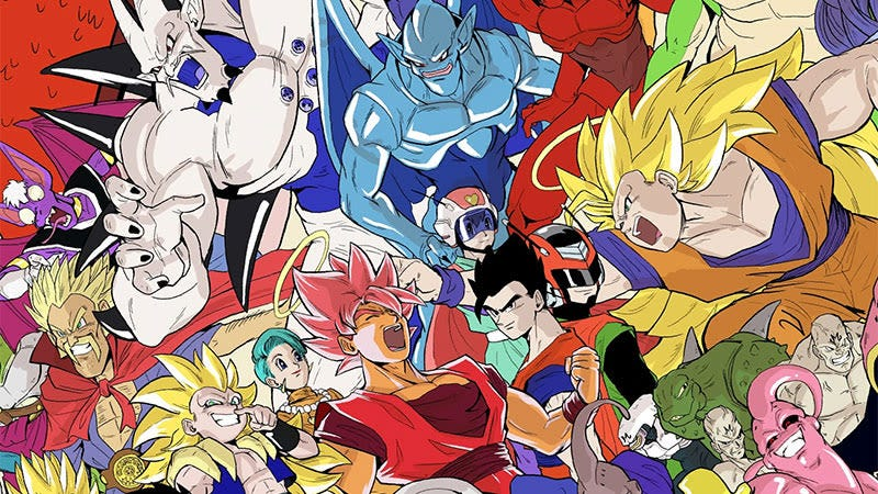 Illustration for article titled Todos (sí, todos) los personajes de Dragon Ball en una sola imagen